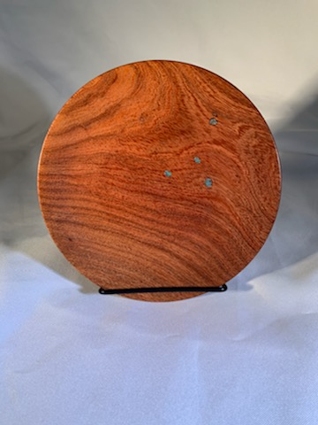 Mesquite Platter with worm hole